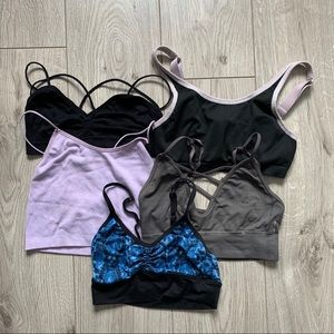Bundle of five bralets size one all fit small